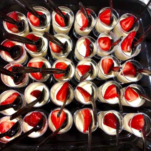 Vanilla Panna Cotta | Macerated Strawberries